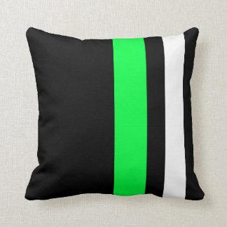 Verde y blanco ligeros de la almohada del diseño