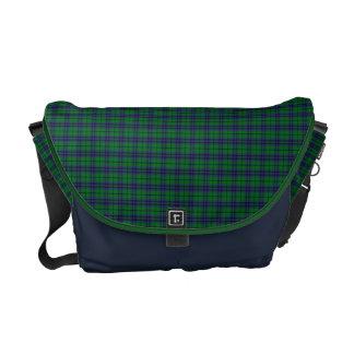 Verde y bolso del mensajero de la tela escocesa de bolsas de mensajería