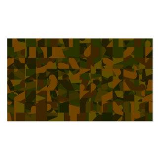 Verde y Brown Camo, modelo abstracto Tarjetas De Visita