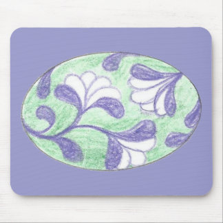 Verde y camafeo Swooping de la flor del lazo de Alfombrilla De Raton