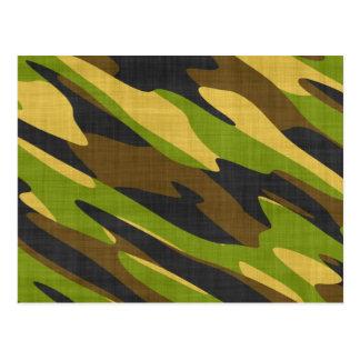 Verde y camuflaje del ejército de Brown Postales