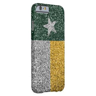 Verde y caso de la mirada del brillo de la bandera funda de iPhone 6 barely there