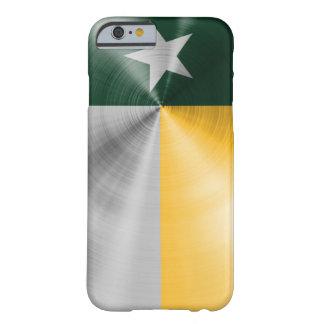 Verde y caso del iPhone 6 de la bandera de Tejas Funda Para iPhone 6 Barely There