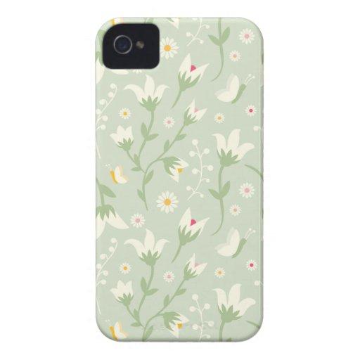 Verde y caso elegante del iphone 4 de la diversión Case-Mate iPhone 4 protectores