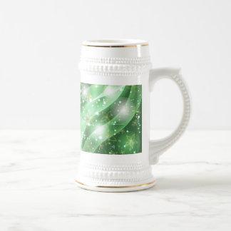 Verde y chispa jarra de cerveza