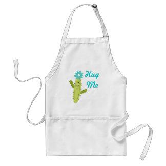 Verde y ciánico - abráceme cactus de la flor delantales