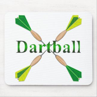 Verde y dardos de Dartball del oro Alfombrillas De Ratones