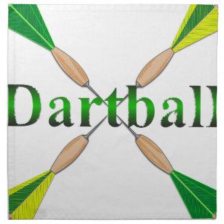 Verde y dardos de Dartball del oro Servilleta Imprimida