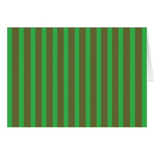 Verde y DarkGold de las rayas Tarjeta Pequeña
