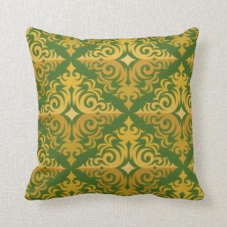 Verde y diseño de la diadema del oro cojín