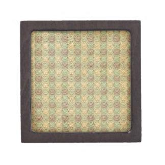 Verde y diseño grabado en relieve retro de la caja de regalo de calidad