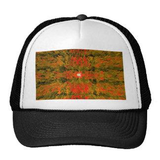 Verde y diseño texturizado moderno anaranjado del gorra