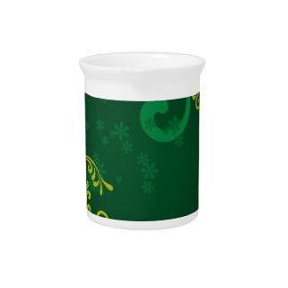 Verde y floral jarrones