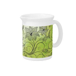 Verde y flores - jarra de la primavera - 1