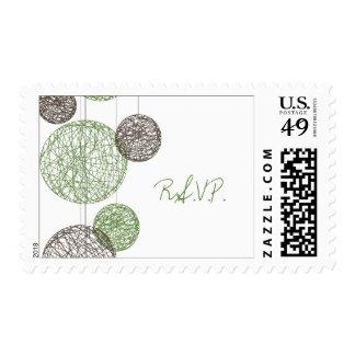 Verde y globos R.S.V.P. de la guita de Brown Sellos