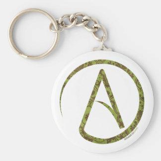Verde y llavero florales del ateo de Brown