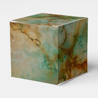 Verde y mármol del oro caja para regalos de fiestas