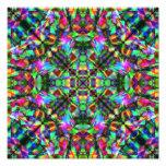 Verde y modelo de la mandala del arco iris impresión fotográfica