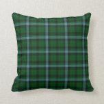 Verde y modelo de la tela escocesa de tartán de lo cojin