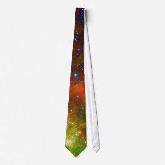 Verde y naranja de la nebulosa norteamericana corbata