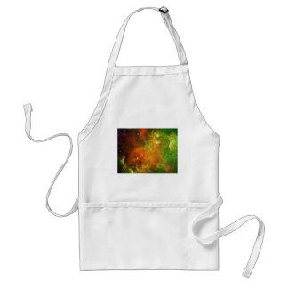 Verde y naranja de la nebulosa norteamericana delantal