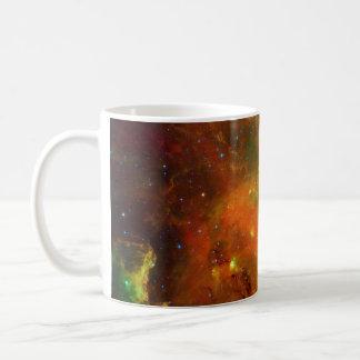 Verde y naranja de la nebulosa norteamericana tazas de café