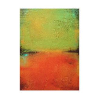 Verde y naranja impresiones de lienzo