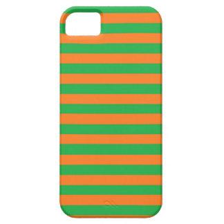 Verde y naranja raya la caja del iPhone iPhone 5 Carcasa
