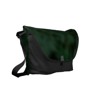 Verde y negro abigarrados bolsa de mensajería