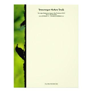 Verde y negro de Treecreeper Plantillas De Membrete