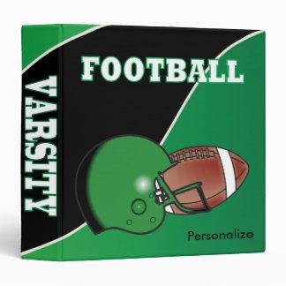 Verde y negro personalice el fútbol