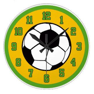 Verde y oro del fútbol relojes