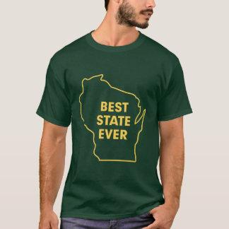 """Verde y oro del """"mejor estado de Wisconsin nunca"""" Playera"""