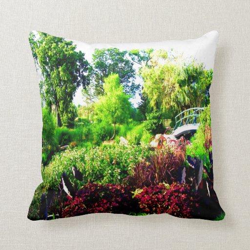 verde y paz del árbol de la flor almohadas