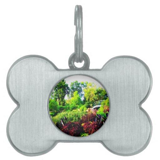 verde y paz del árbol de la flor placas mascota