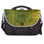Verde y placa de circuito del ordenador electrónic bolsas para ordenador