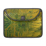 Verde y placa de circuito del ordenador electrónic fundas macbook pro