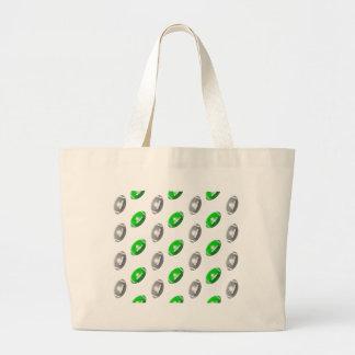 Verde y plata/modelo gris del fútbol bolsa lienzo