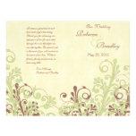 Verde y programa floral abstracto del boda de Brow