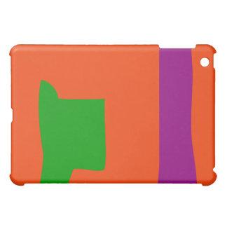 Verde y púrpura con el fondo anaranjado