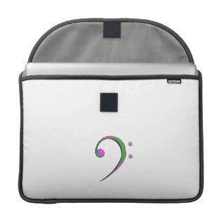 Verde y púrpura del estilo sport del Clef bajo Funda Para Macbook Pro