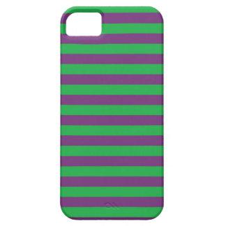 Verde y púrpura raya la caja del iPhone iPhone 5 Carcasas