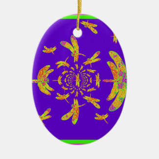 Verde y regalos de la libélula del oro por Sharles Ornamentos De Reyes