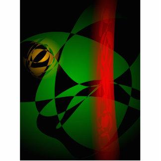 Verde y rojo simples de la balanza escultura fotografica