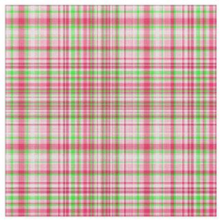 Verde y rosa 23 del Tela-Neón de la tela escocesa Telas
