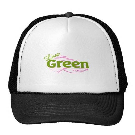 verde y rosa gorro de camionero