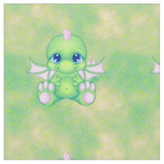 Verde y rosa lindos del dragón del bebé telas