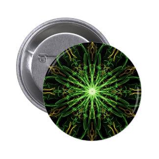 Verde y seda Starburst del oro Pin