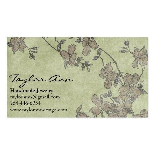 Verde y tarjeta de visita de la flor de Brown
