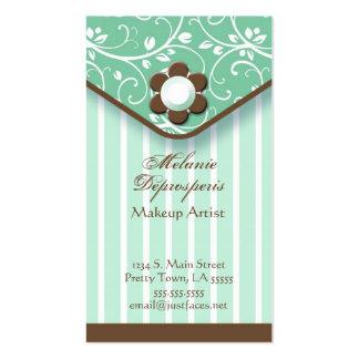 Verde y tarjeta de visita del embrague de Brown